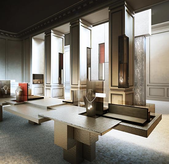 Sandrine faivre tristan auer architecture intérieure shopping 2012 cartier